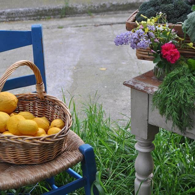 Zitronen im Korb